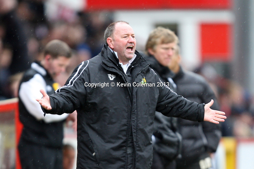 Yeovil manager Gary Johnson. Stevenage v Yeovil Town- npower League 1 -  Lamex Stadium, Stevenage - 13th April, 2013. © Kevin Coleman 2013.. . . . .. . . .  . . .  .