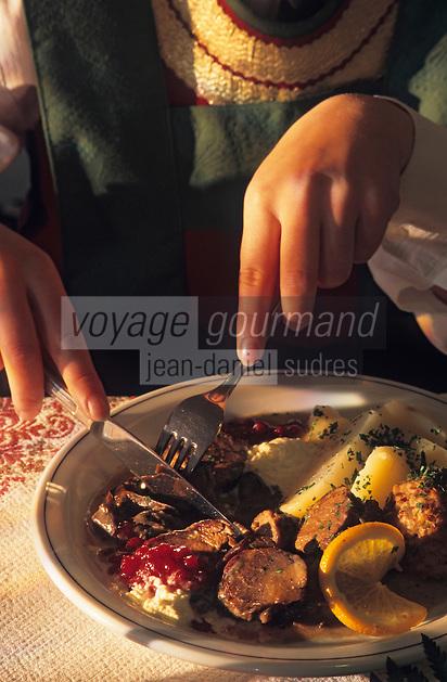 "Europe/Autriche/Tyrol/Flaurling: Gasthof ""Zum Golden Adler"" - Recette de filet de cerf"