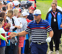 Patrick Reed US Team makes his way to the 10th tee during Thursday's Practice Day of the 41st RyderCup held at Hazeltine National Golf Club, Chaska, Minnesota, USA. 29th September 2016.<br /> Picture: Eoin Clarke | Golffile<br /> <br /> <br /> All photos usage must carry mandatory copyright credit (&copy; Golffile | Eoin Clarke)