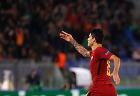 Roma s Diego Perotti celebrates after scoring during the Champions League Group C soccer match between Roma and Chelsea at Rome's Olympic stadium, October 31, 2017.<br /> UPDATE IMAGES PRESS/Riccardo De Luca