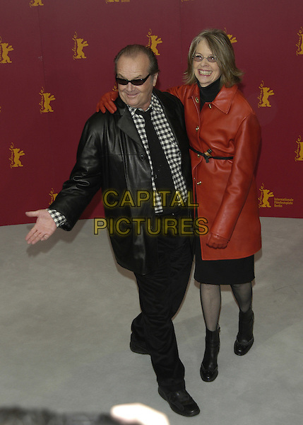 "JACK NICHOLSON & DIANE KEATON.""Something's Gotta Give"" photocall.Berlin Film Festival, Germany.06 February 2004.full length, full-length.sales@capitalpictures.com.www.capitalpictures.com.©Capital Pictures"