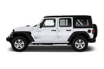 Car driver side profile view of a 2018 Jeep Wrangler Unlimited Sport 5 Door SUV
