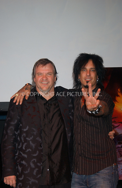 WWW.ACEPIXS.COM . . . . . ....July 31, 2006, New York City. ....Nikki Sixx and Meatloaf attend Press Conference for 'Bat Out of Hell 3 - The Monster is loose'. ......Please byline: KRISTIN CALLAHAN - ACEPIXS.COM.. . . . . . ..Ace Pictures, Inc:  ..(212) 243-8787 or (646) 769 0430..e-mail: info@acepixs.com..web: http://www.acepixs.com