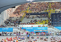 August 04, 2012..View of the stands and spectators at the Aquatics Center on day eight of 2012 Olympic Games in London, United Kingdom.