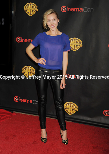LAS VEGAS, CA - APRIL 21: Actress Breanne Hill arrives at Warner Bros. Pictures Invites You to ?The Big Picture at The Colosseum at Caesars Palace during CinemaCon, the official convention of the National Association of Theatre Owners, on April 21, 2015 in Las Vegas, Nevada.