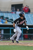 Zach Cone (22) of the High Desert Mavericks bats during a game against the Lancaster JetHawks at The Hanger on May 19, 2015 in Lancaster, California. Lancaster defeated High Desert, 8-7. (Larry Goren/Four Seam Images)