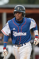 17 August 2010: Andy Paz Garriga of Team France looks dejected during the Czech Republic 4-3 win over France, at the 2010 European Championship, under 21, in Brno, Czech Republic.
