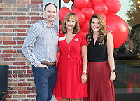 NWA Democrat-Gazette/CARIN SCHOPPMEYER Matthew Roughton (from left), Debbie Sonntag and Tracy Neal-Butzlaff help support the American Heart Association.