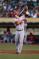 OAKLAND, CA - AUGUST 7:  Kendrys Morales of the Los Angeles Angels gets ready to bat during the game against the Oakland Athletics at O.co Coliseum on Tuesday, August 7, 2012 in Oakland, California. Photo by Brad Mangin