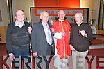 Medal Presentation : Members of the Irremore Branch of the Pioneer Total Abstinence Association who were presented with the Fr. Cullen Badge in recognition of being pioneers for 60 years by Fr. Gerrard O'Connell at a special Mass in Irremore Church on Thursday last. L- R : Tom Canty , Pallas, Michael Whelan, Lisahane, Fr Gerard O'Connell & Mickey Fuller, Glenoe.