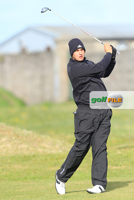 Luis Thiele (Brazil) on the 13th during the Round 1 of The Irish Amateur Open Championship in The Royal Dublin Golf Club on Thursday 8th May 2014.<br /> Picture:  Thos Caffrey / www.golffile.ie