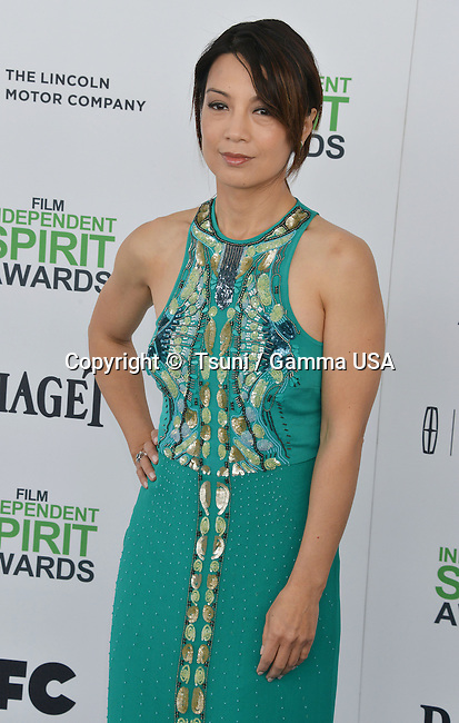 Ming Na Wen  at the Film Independent Spirit Awards 2014on the Santa Monica Beach In Los Angeles.