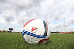 09 January 2015: 2015 Adidas Nativo Major League Soccer match ball. The 2015 MLS Player Combine was held on the cricket oval at Central Broward Regional Park in Lauderhill, Florida.