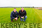 Patrick O'Sullivan Chairman and Tim Murphy County Develeopment officer inspect the pitches in Currans which are now playable