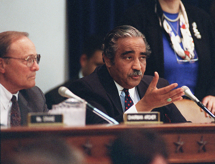 6/11/97.HOUSE WAYS AND MEANS:House Ways and Means Committee  ranking member Charles B. Rangel D-N.Y. speaks during the   panel's tax markup session..CONGRESSIONAL QUARTERLY PHOTO BY DOUGLAS GRAHAM