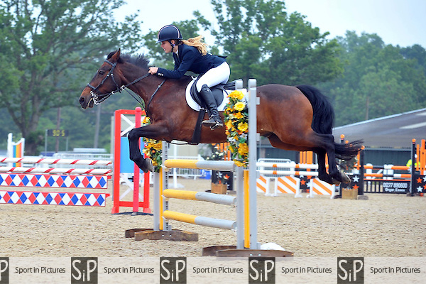 Class 2. Pony Discovery Championship. British Showjumping Junior show. Brook Farm Training Centre. Essex. 14/06/2015. MANDATORY Credit Ellie Ingram/Sportinpictures - NO UNAUTHORISED USE - 07837 394578