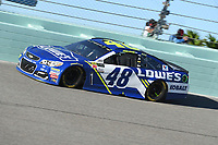 HOMESTEAD, FL - NOVEMBER 19: Jimmie Johnson drives during the Monster Energy NASCAR Cup Series Championship Ford EcoBoost 400 at Homestead-Miami Speedway on November 19, 2017 in Homestead, Florida. Credit: mpi04/MediaPunch /NortePhoto.com