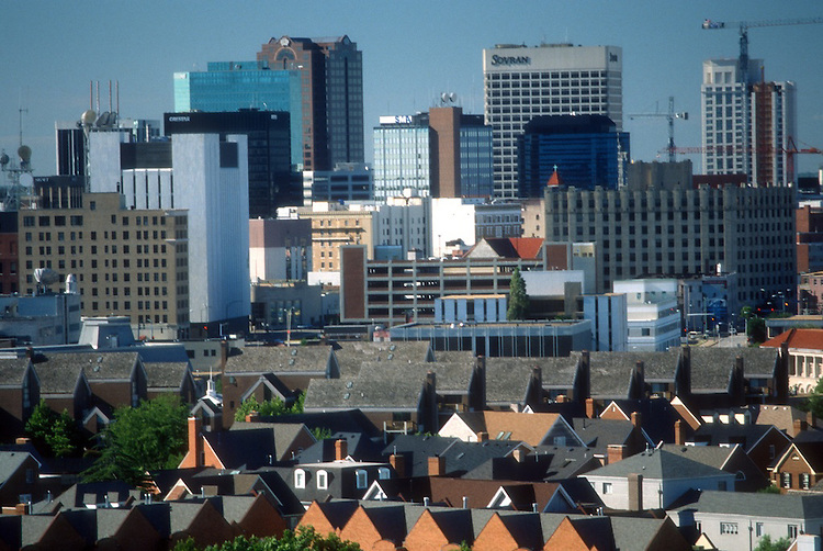 1991 June ..Historical...NORFOLK SKYLINE WITH GHENT IN FOREGROUND...NEG#.NRHA#..