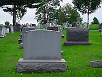 Headstones of those who died in the Civil War