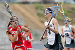 San Diego, CA 05/21/11 - Lauren Maack (Coronado #4) and Krystyn Berretta (Cathedral Catholic #3) in action during the 2011 CIF San Diego Division 2 Girls lacrosse finals between Cathedral Catholic and Coronado.