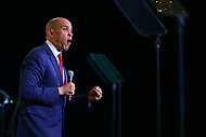 Washington, DC - January 24, 2019: U.S. Senator Cory Booker addresses the U.S. Conference of Mayors Winter Meeting at the Capitol Hilton hotel in Washington, DC January 24, 2019.  (Photo by Don Baxter/Media Images International)