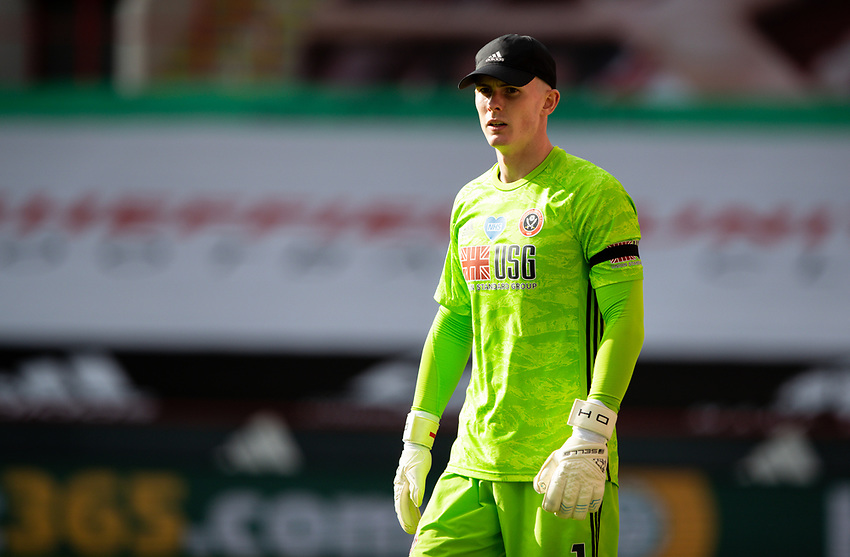 Sheffield United's Dean Henderson<br /> <br /> Photographer Alex Dodd/CameraSport<br /> <br /> The Premier League - Sheffield United v Chelsea - Saturday 11th July 2020 - Bramall Lane - Sheffield<br /> <br /> World Copyright © 2020 CameraSport. All rights reserved. 43 Linden Ave. Countesthorpe. Leicester. England. LE8 5PG - Tel: +44 (0) 116 277 4147 - admin@camerasport.com - www.camerasport.com