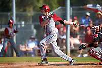 Indiana Hoosiers shortstop Brian Whilhite (11) at bat during a game against the Illinois State Redbirds on March 4, 2016 at North Charlotte Regional Park in Port Charlotte, Florida.  Indiana defeated Illinois State 14-1.  (Mike Janes/Four Seam Images)