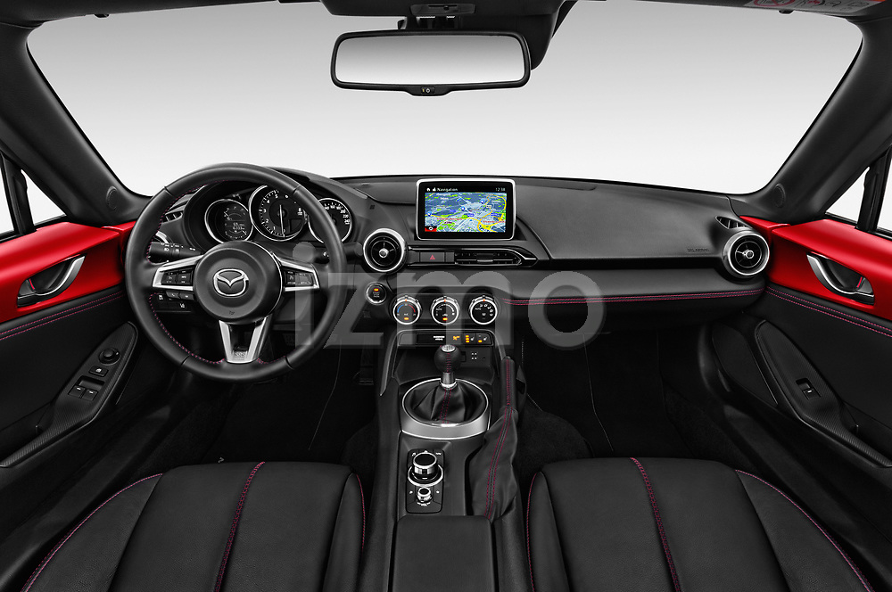 Stock photo of straight dashboard view of 2016 Mazda MX-5 Skycruise 2 Door Convertible Dashboard