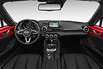 Stock photo of straight dashboard view of 2016 Mazda MX-5 Skycruise 2 Door Convertible Dashboard