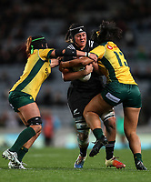 Eloise Blackwell in action during the Laurie O'Reilly Memorial Trophy international women's rugby match between the New Zealand Black Ferns and Australia Wallaroos at Eden Park in Auckland, New Zealand on Saturday 25 August 2018. Photo: Simon Watts / lintottphoto.co.nz