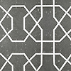 Collins, a waterjet stone mosaic, shown in Basalto and brushed Aluminum, is part of the Trove® collection for New Ravenna.