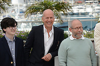 "Jared Gilmann, Bruce Willis and Bob Balaban attending the ""Moonrise Kingdom"" Photocall during the 65th annual International Cannes Film Festival in Cannes, 16th May 2012...Credit: Timm/face to face /MediaPunch Inc. ***FOR USA ONLY***"