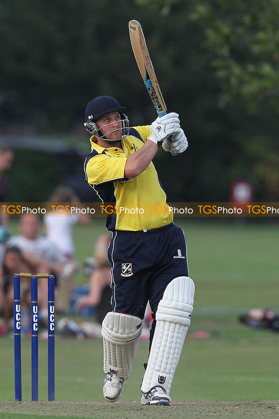 Terry Wyatt in batting action for Upminster - Upminster CC vs Essex CCC - Graham Napier Benefit Match Cricket at Upminster Park - 09/09/12 - MANDATORY CREDIT: Gavin Ellis/TGSPHOTO - Self billing applies where appropriate - 0845 094 6026 - contact@tgsphoto.co.uk - NO UNPAID USE.