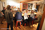Locals hang out at the intimate bar at Homestyle Hostel Inn and Cafe in Ludlow, Vermont -- a cozy, new Inn near Okemo Mountain.
