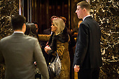 Kelly Anne Conway arrives in the lobby of Trump Tower in Manhattan, New York, U.S., on Tuesday, December 13, 2016. <br /> Credit: John Taggart / Pool via CNP