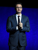 LAS VEGAS, NV - APRIL 24: President, Theatrical Distribution, Walt Disney Studios Motion Pictures Dave Hollis speaks onstage during the CinemaCon 2018 The State of the Industry and Walt Disney Studios Presentation presentation at CinemaCon 2018 at The Colosseum at Caesars Palace on April 24, 2018 in Las Vegas, Nevada. (Photo by Frank Micelotta/PictureGroup)