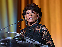 Washington, DC - September 14, 2018: U.S. Representative Maxine Waters speaks after receiving an lNNPA leadership award during the National Newspaper Publishers Association awards banquet held at the Marriott Marquis in Washington, DC September 14, 2018.  (Photo by Don Baxter/Media Images International)
