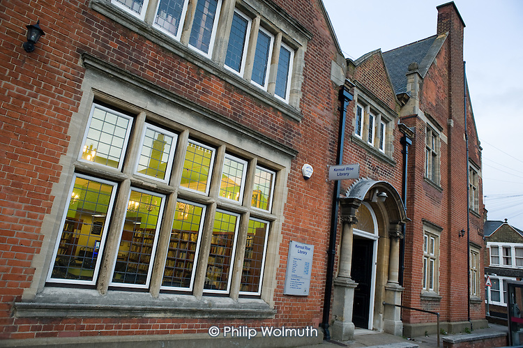 Kensal Rise library is one of six libraries in the London Borough of Brent threatened with closure as a result of  government spending cuts. It was built on land donated by All Souls College, Oxford, with money donated by Andrew Carnegie, and opened by Mark Twain in 1900.