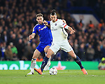 Chelsea's Branislav Ivanovic tussle with PGS's Zlatan Ibrahimovic<br /> <br /> - UEFA Champions League - Chelsea vs Paris Saint Germain - Stamford Bridge - London - England - 9th March 2016 - Pic David Klein/Sportimage