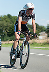 SITTARD, NETHERLANDS - AUGUST 16: Gregory Habeaux of Belgium riding for Accent Jobs-Wanty competes during stage 5 of the Eneco Tour 2013, a 13km individual time trial from Sittard to Geleen, on August 16, 2013 in Sittard, Netherlands. (Photo by Dirk Markgraf/www.265-images.com)
