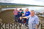 Members of the Callinafercy Pier rowing club are looking for Kerry County Council to clean the slipway in advance of launching their new boat at the end of August, from left, Cllr Damian Quigg, Patrick Clifford, Michael Griffin, Jack Clifford, Andrew Clifford, Mary Clifford, Chairperson Callinafercy Pier rowing club, Padraig Clifford and James Clifford.
