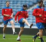 New Rangers trialist at Ibrox for training under the eye of chief scout Neil Murray