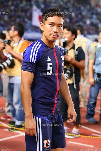 Yuto Nagatomo (JPN), AUGUST 14, 2013 - Football / Soccer : <br /> KIRIN Challenge Cup 2013 match <br /> between Japan 2-4 Uruguay <br /> at Miyagi Stadium, Miyagi, Japan.<br />  (Photo by AFLO SPORT)
