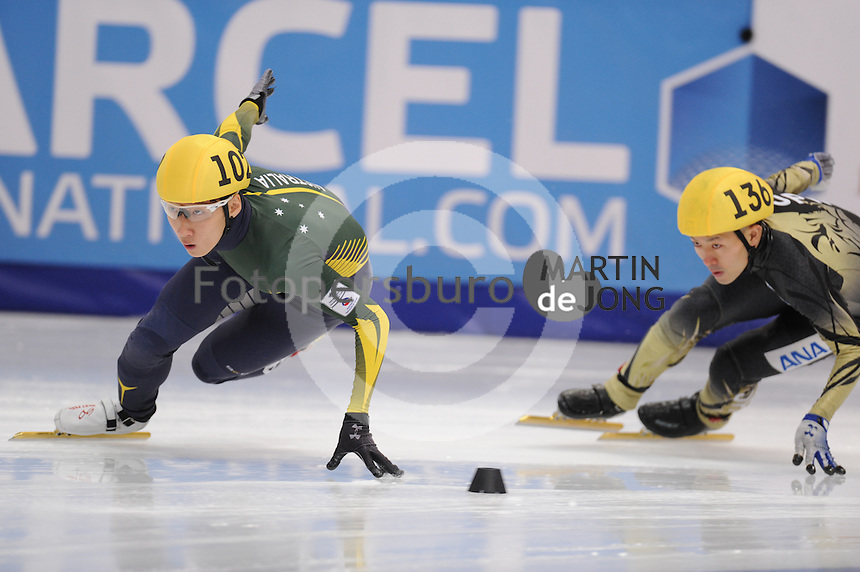 "SHORT TRACK: MOSCOW: Speed Skating Centre ""Krylatskoe"", 14-03-2015, ISU World Short Track Speed Skating Championships 2015, Ranking Races, Hyun Woo (Andy) JUNG (#102 