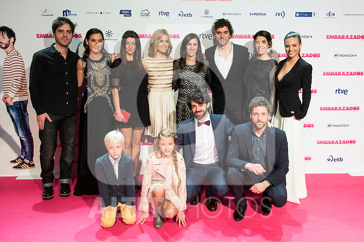 The cast attends to the premiere of the film &quot;Embarazados&quot; at Capitol Cinemas in Madrid, January 27, 2016.<br /> (ALTERPHOTOS/BorjaB.Hojas)