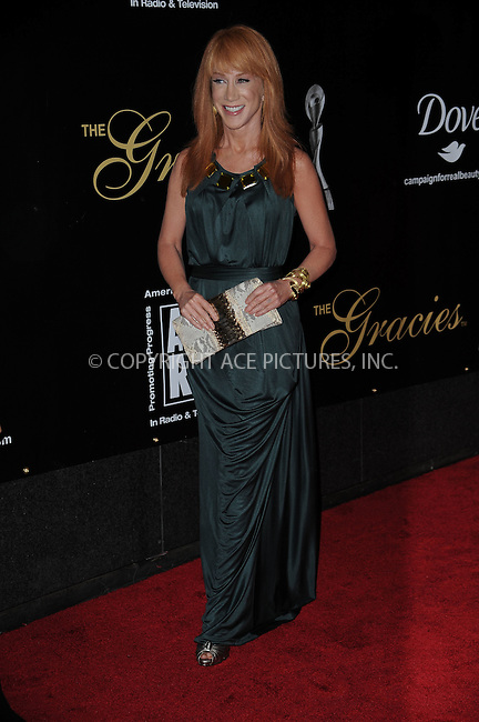 WWW.ACEPIXS.COM . . . . . ....June 3 2009, New York City....TV personality Kathy Griffin arriving at the 34th Annual AWRT Gracie Awards Gala at The New York Marriott Marquis on June 3, 2009 in New York City.....Please byline: KRISTIN CALLAHAN - ACEPIXS.COM.. . . . . . ..Ace Pictures, Inc:  ..tel: (212) 243 8787 or (646) 769 0430..e-mail: info@acepixs.com..web: http://www.acepixs.com