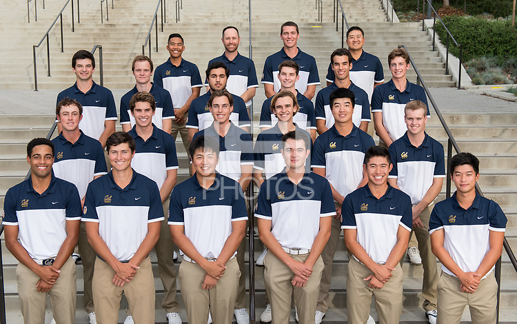 BERKELEY, CA - November 7, 2016: The Cal Bears 2016-2017 Men's Golf Team