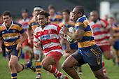 P. Saukuru is all determination as he looks to break the karaka line. Counties Manukau Rugby Union Premier round 7  game between Patumahoe & Karaka played at Patumahoe on May 26th 2007. Karaka led 5 - 3 at halftime and went on to win 12 - 3.