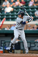 Tampa Yankees first baseman Matt Snyder (29) at bat during a game against the Lakeland Flying Tigers on April 9, 2015 at Joker Marchant Stadium in Lakeland, Florida.  Tampa defeated Lakeland 2-0.  (Mike Janes/Four Seam Images)