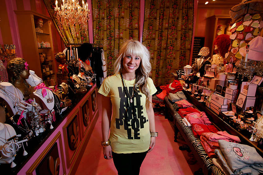 Manager of Electric Lady Land boutique. <br /> <br /> Shot for State Press Magazine.